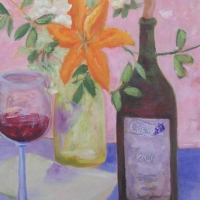 Wine and Lillies II