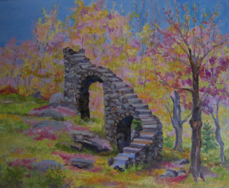 Castle-Stairs-in-Spring  Available