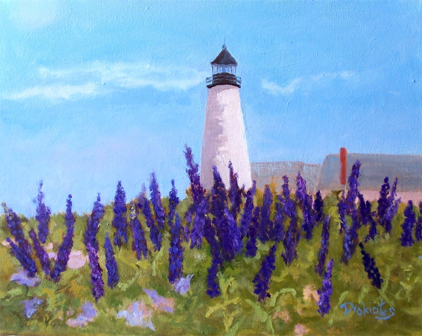 Lupins at the Light house - AVAILABLE