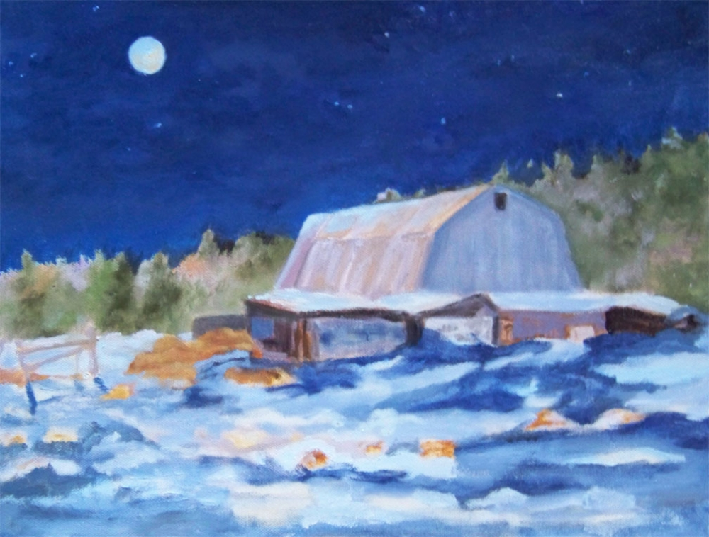 Moonlit Barn  - AVAILABLE