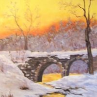 Winter-Sunset-Cheshire Turnpike Bridge - Available