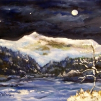 Childs Bog - First Snow  - SOLD