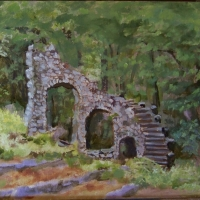 Castle Stairs in Summer - SOLD