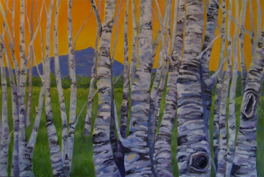 Monadnock-Birches-  Private collection