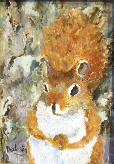 Red-Squirrel-  SOLD
