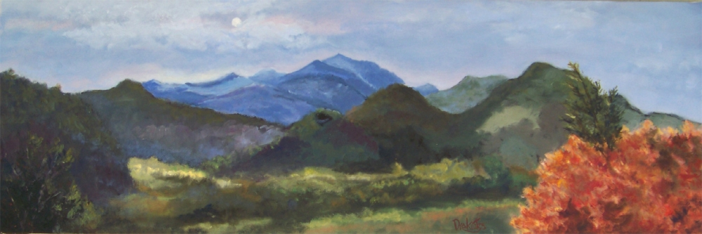 Scenic Overlook Moonrise - SOLD