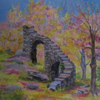 Castle-Stairs-in-Spring   SOLD