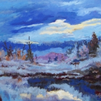 Morning at the Marsh   SOLD