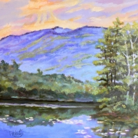 Reflections Thorndike Pond - In private collection