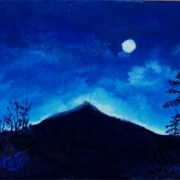 Wolf Moon -  SOLD